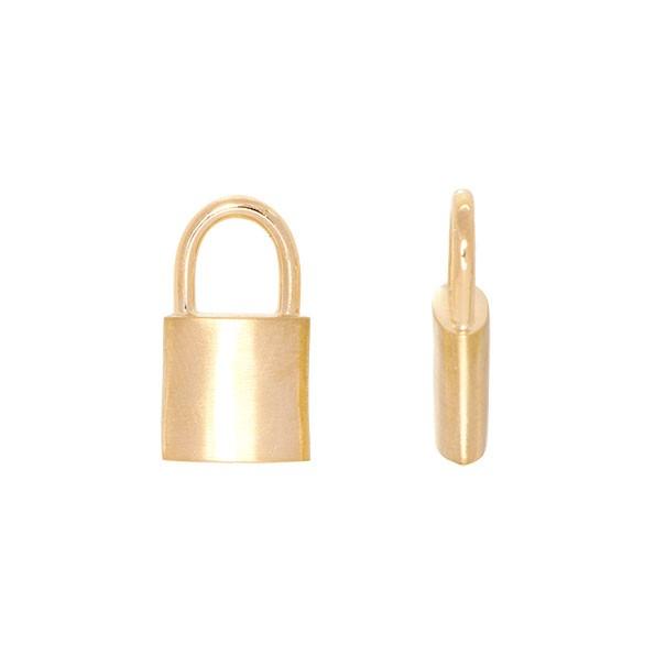 Pingente em Ouro 18k Cadeado Fosco/Polido