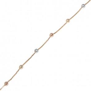 98669a0e0a7 Pulseira 15cm veneziana com bolinhas diamantadas 1.00grs