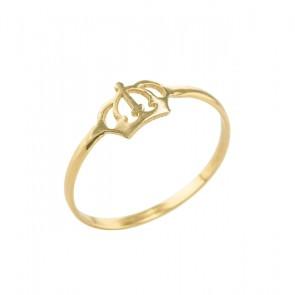 Anel Ouro Falange/Infantil Coroa