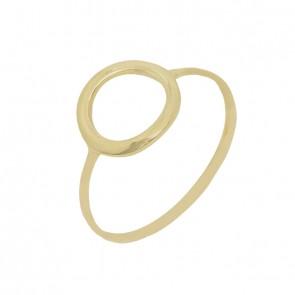 Anel em Ouro 18k Forme Circulo Vazado Polido