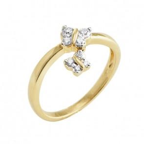 Anel Borboletas com Diamantes