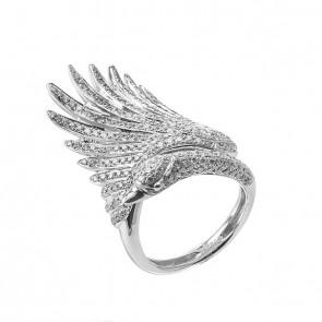 Anel Cisne com Diamantes