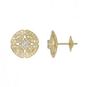 Brinco Royals Com 2 Diamantes 30 Pontos e 88 Diamantes 0.66Ct