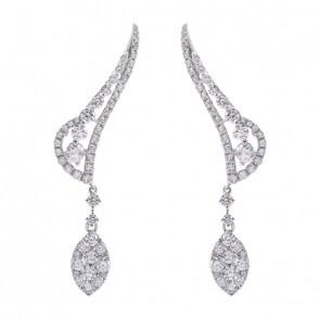Brinco Ear Cuff Asas Com 104 Diamantes