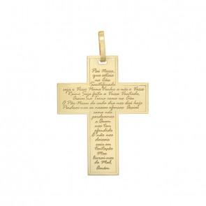 Pingente Cruz com Oração Pai Nosso