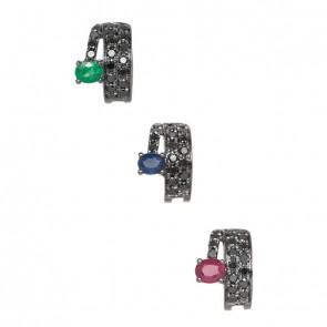 Piercing-Negro-Argola-com-Diamante-Black-e-Pedras-Preciosas-(Pingentes)