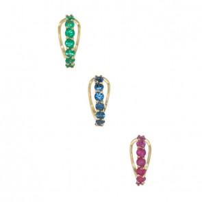 Piercing-Argola-Esmeralda-Safira-Rubi-com-7-Pedras-Preciosas-2.50mm-Ouro-Amarelo-(Pingentes)