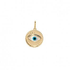 Pingente em Ouro 18k Aurea Olho Grego Polido