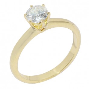 Anel Solitário com Diamante 70 Pontos