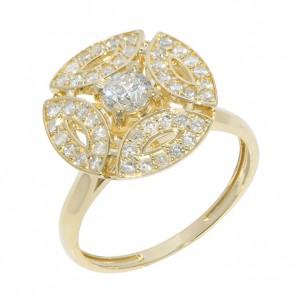 Anel Royals Com 1 Diamante 30 Pontos  e 45 Diamantes 0.33Ct