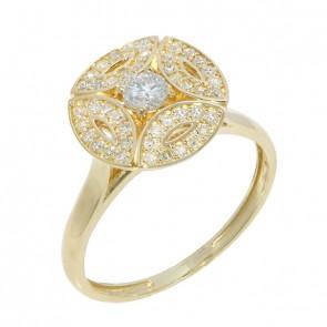 Anel Royals Little Com 1 Diamante 15 Pontos e 45 Diamantes 0.22Ct