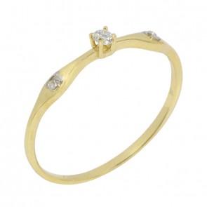 Anel-Solitario-Debutante-com-1-Diamante-5-Pontos