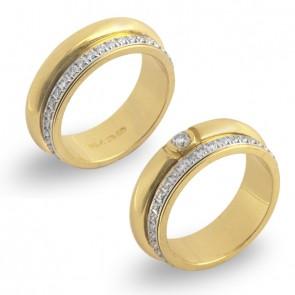 Aliança Taormina Com 38 Diamantes