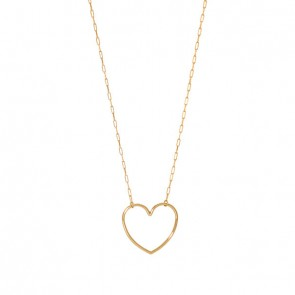 Gargantilha em Ouro 18k Forme Cartie com Coração Polido