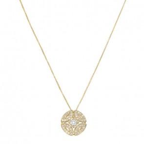 Gargantilha Royals Com 1 Diamante 30 Pontos e 45 Diamantes 0.33Ct