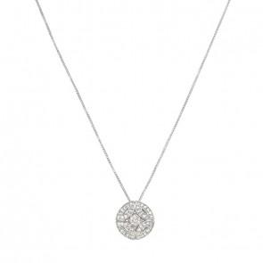 Gargantilha White Royals Com 1 Diamante 15 Pontos e 45 Diamantes 0.22Ct