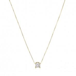 6700ec93d5f9f Gargantilha Magic Ponto De Luz Com 1 Diamante de 10 Pontos e 7 Diamantes 2  Pontos