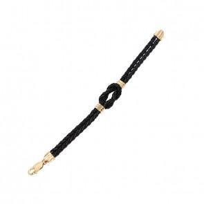 Pulseira em Ouro 18k Alpha Leather Knot