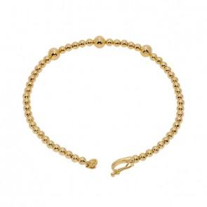 Bracelete em Ouro 18k Bolinhas Degrades Polida
