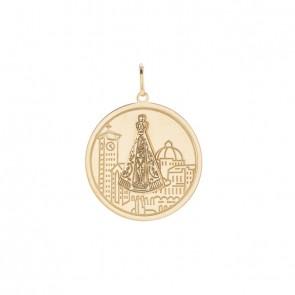 Pingente Mandala Nossa Sra. aparecida Basílica de Ouro